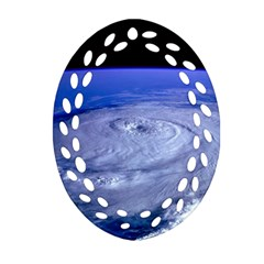 Hurricane Elena Ornament (oval Filigree)