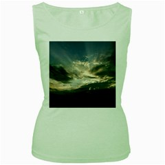 Heaven Rays Women s Green Tank Tops