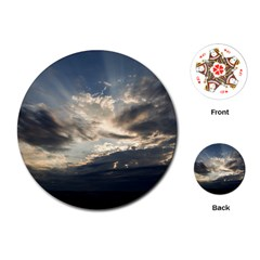 Heaven Rays Playing Cards (round)