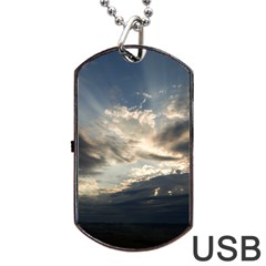 Heaven Rays Dog Tag Usb Flash (one Side)