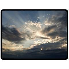 Heaven Rays Double Sided Fleece Blanket (large)
