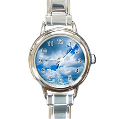 CUMULUS CLOUDS Round Italian Charm Watches