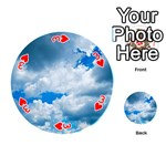 CUMULUS CLOUDS Playing Cards 54 (Round)  Front - Heart3