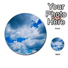 Cumulus Clouds Multi Purpose Cards (round)