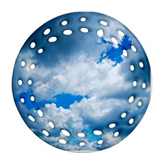 Cumulus Clouds Ornament (round Filigree)
