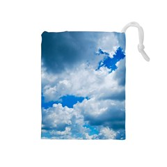 CUMULUS CLOUDS Drawstring Pouches (Medium)