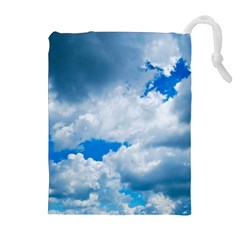 Cumulus Clouds Drawstring Pouches (extra Large)