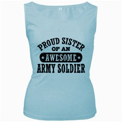 Proud Army Soldier Sister Women s Baby Blue Tank Tops