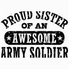 Proud Army Soldier Sister Collage 12  x 18