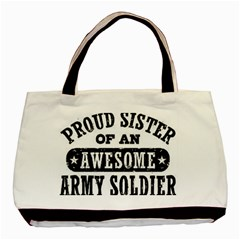 Proud Army Soldier Sister Basic Tote Bag (Two Sides)