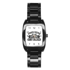 Proud Army Soldier Sister Stainless Steel Barrel Watch