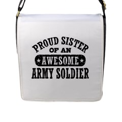 Proud Army Soldier Sister Flap Messenger Bag (L)