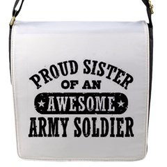 Proud Army Soldier Sister Flap Messenger Bag (S)
