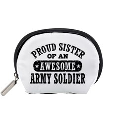Proud Army Soldier Sister Accessory Pouches (Small)
