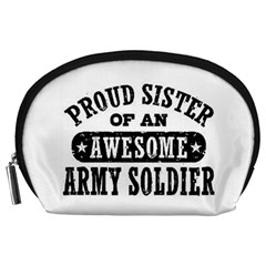 Proud Army Soldier Sister Accessory Pouch (large)