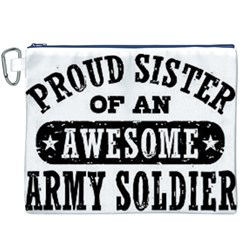 Proud Army Soldier Sister Canvas Cosmetic Bag (XXXL)
