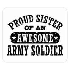 Proud Army Soldier Sister Double Sided Flano Blanket (Small)