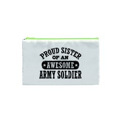 Proud Army Soldier Sister Cosmetic Bag (XS)