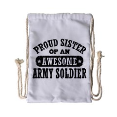 Proud Army Soldier Sister Drawstring Bag (Small)