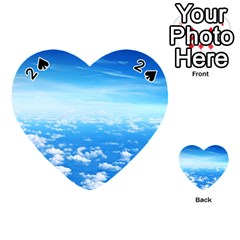CLOUDS Playing Cards 54 (Heart)
