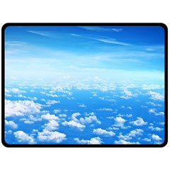 Clouds Double Sided Fleece Blanket (large)