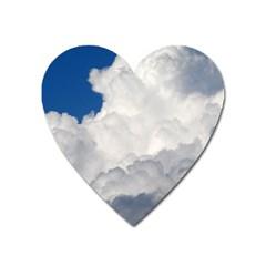 BIG FLUFFY CLOUD Heart Magnet