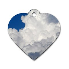 BIG FLUFFY CLOUD Dog Tag Heart (One Side)