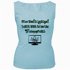Weed Commercials Women s Baby Blue Tank Tops
