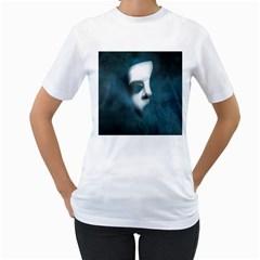 Phantom Mask Women s T-Shirt (White)