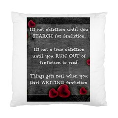 Fanfiction Obsession Standard Cushion Case (One Side)