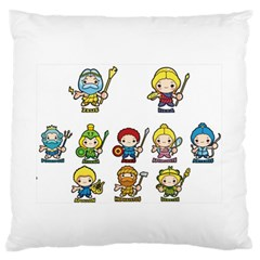 Kiddie Greek Gods Standard Flano Cushion Cases (One Side)
