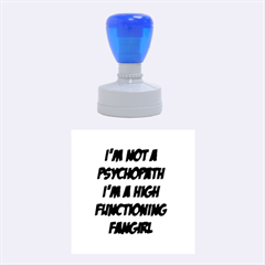 High Functioning Fangirl Rubber Round Stamps (Medium)
