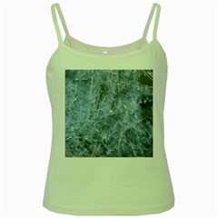 WATERY ICE SHEETS Green Spaghetti Tanks