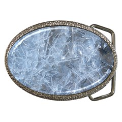 Watery Ice Sheets Belt Buckles