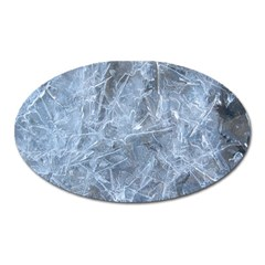 WATERY ICE SHEETS Oval Magnet