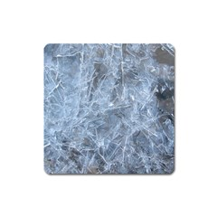 WATERY ICE SHEETS Square Magnet