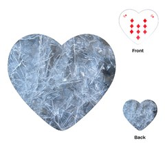 Watery Ice Sheets Playing Cards (heart)