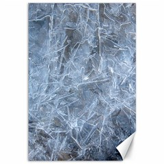 WATERY ICE SHEETS Canvas 12  x 18