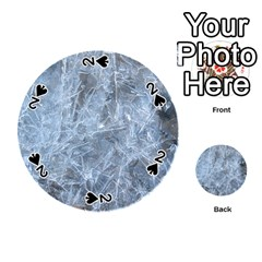 Watery Ice Sheets Playing Cards 54 (round)