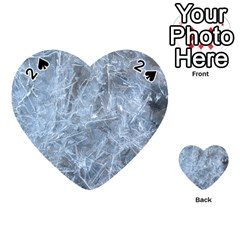 Watery Ice Sheets Playing Cards 54 (heart)