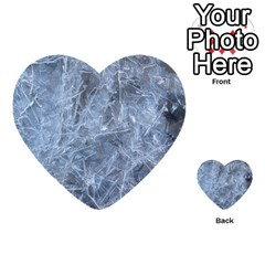 WATERY ICE SHEETS Multi-purpose Cards (Heart)
