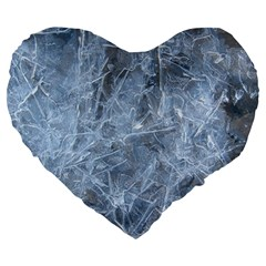 WATERY ICE SHEETS Large 19  Premium Heart Shape Cushions