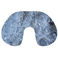 Watery Ice Sheets Travel Neck Pillows