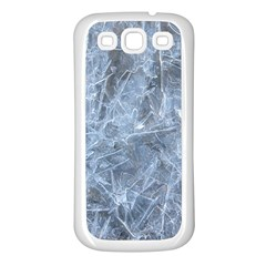 WATERY ICE SHEETS Samsung Galaxy S3 Back Case (White)
