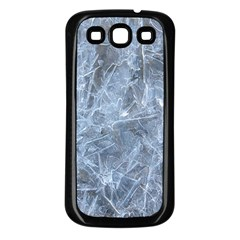 WATERY ICE SHEETS Samsung Galaxy S3 Back Case (Black)