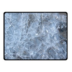 Watery Ice Sheets Double Sided Fleece Blanket (small)