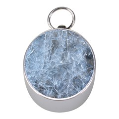 Watery Ice Sheets Mini Silver Compasses