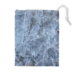 WATERY ICE SHEETS Drawstring Pouches (Extra Large)