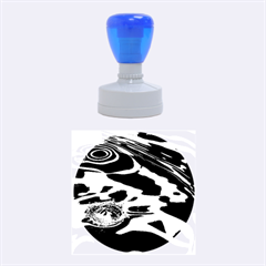 WATER RIPPLES 1 Rubber Round Stamps (Medium)