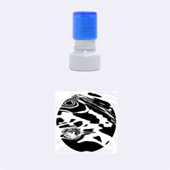 WATER RIPPLES 1 Rubber Round Stamps (Small)